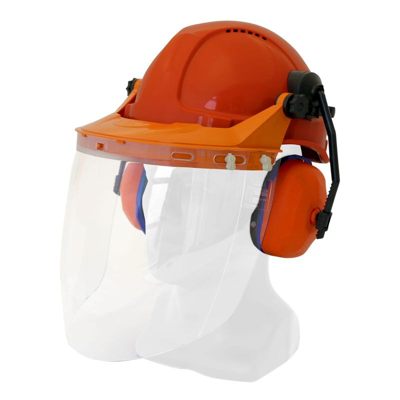 Esko Hard Hat Combo With Clear Visor (TS-VC) Assembled Available With Any TN1R Hard Hat