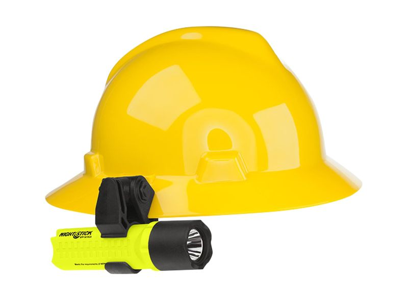 Esko Nightstick Helmet Mountable LED Flashlight 200 Lumens Yellow