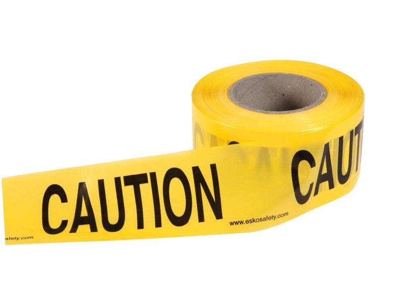 "Esko Economy Barrier Warning Tape ""Caution"" Black/Yellow 75mm x 250m"