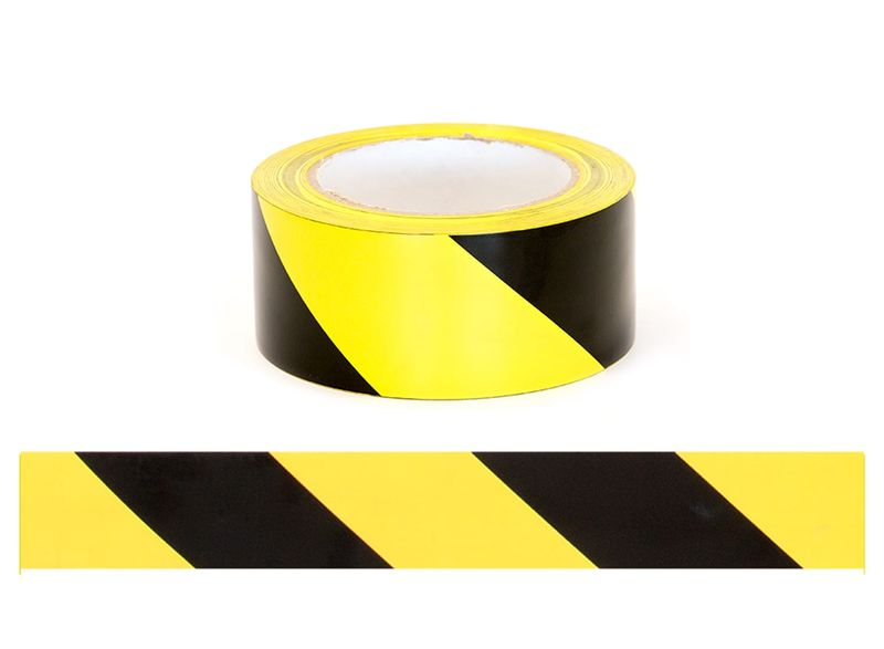 Esko Floor Aisle Marking Tape Black/Yellow 50mm x 33m