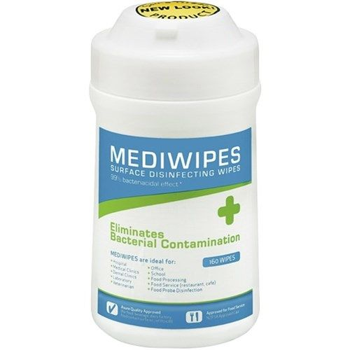 Mediwipes Antibacterial Disinfectant Surface Wipes Tub 160