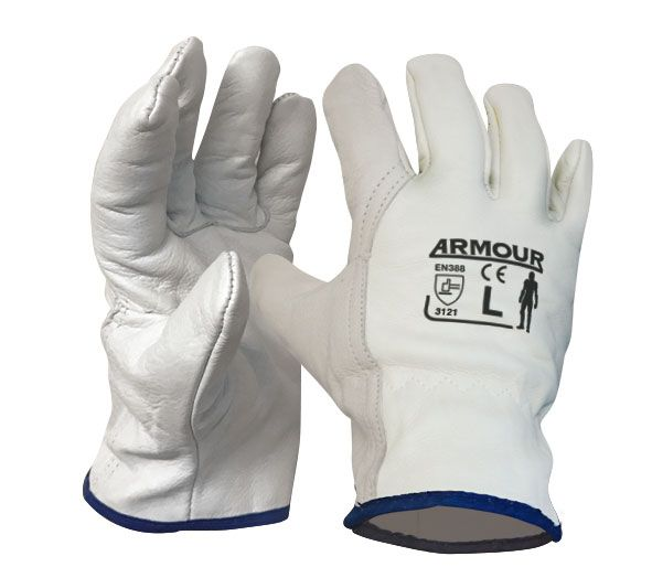 Armour Safety Leather Full Grain Driver Glove
