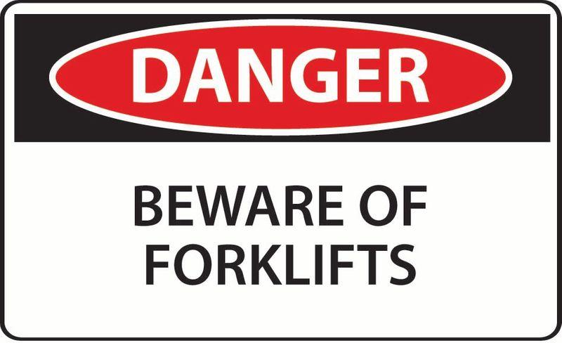 Danger Beware Of Forklifts Coreflute