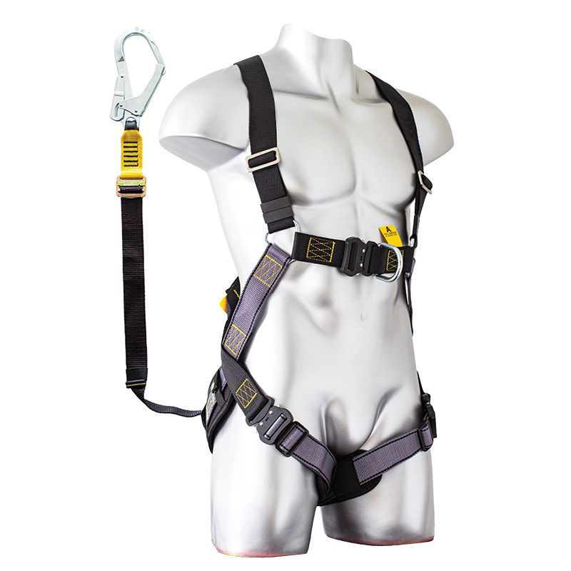 Zero Tradesmate Set Harness/Adjustable Lanyard Set with Scaffold Hook