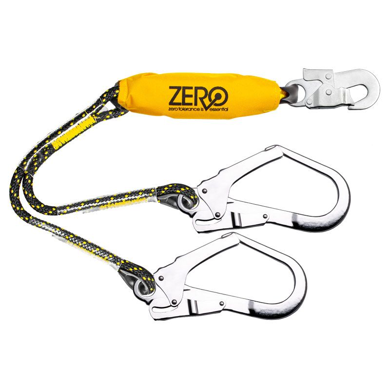 Zero Climbr Double Rope Lanyard with Snaphook And Scaffhooks