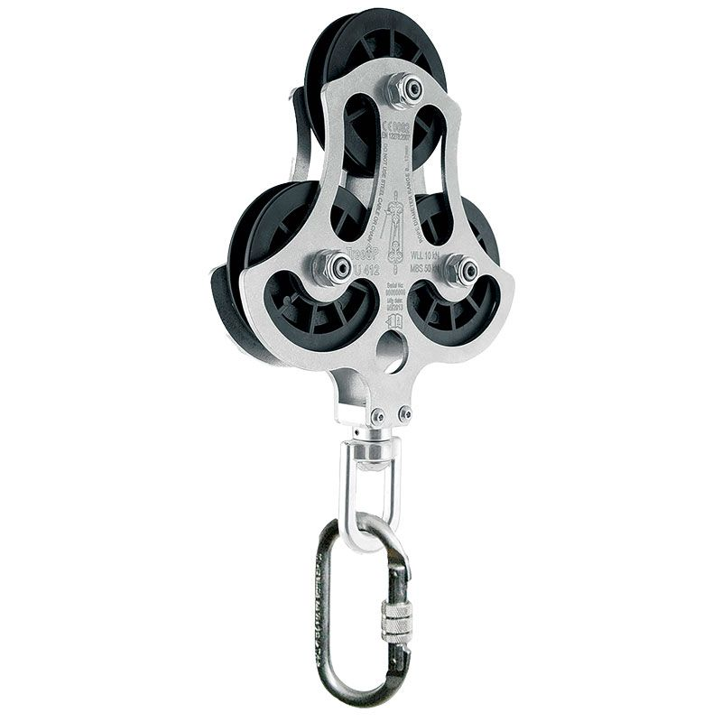 Zero Cargo Multi Pulley Block 4:1 Cargo Only 1000Kg (11mm Rope)