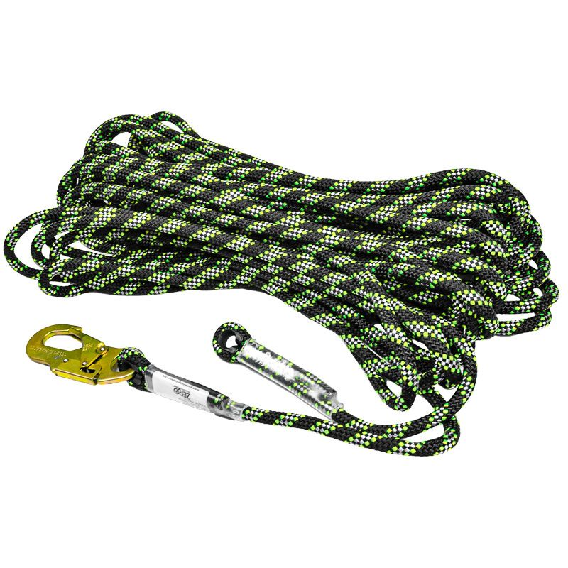 Zero Tactixs 11mm Tactix Kernmantle Static Rope with Eyelet And Snaphook