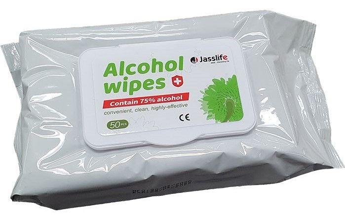 Jasslife 75% Alcohol Sanitiser Wipes Pack 50