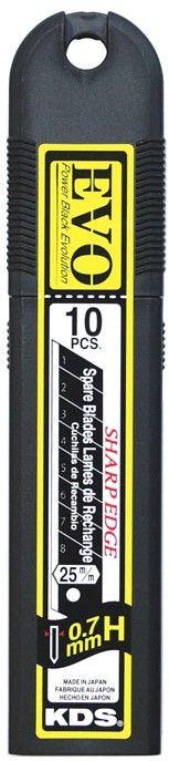 KDS Evo Black Heat Toughened  Blades 25mm Pack 10