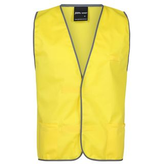 FIRE WARDEN VEST YELLOW PRINTD