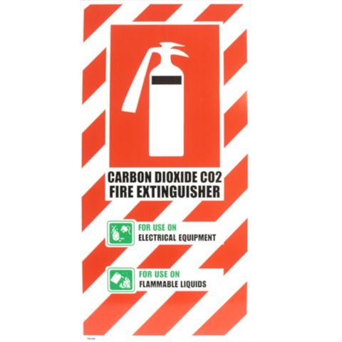 CO2 EXT BLAZON SIGN SMALL