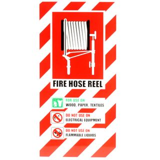 HOSE REEL BLAZON SIGN SMALL