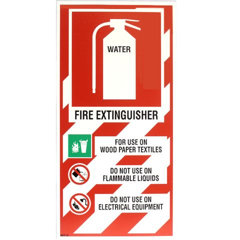 WATER EXT BLAZON SIGN SMALL