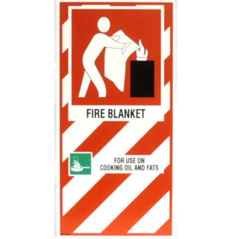 FIRE BLANKET BLAZON SIGN SMALL