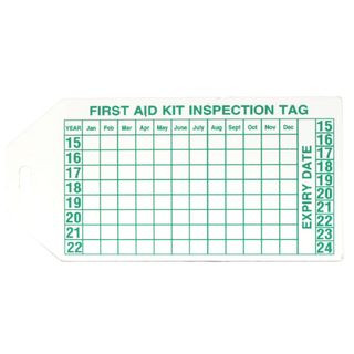 FIRST AID INSPECTION TAG PVC
