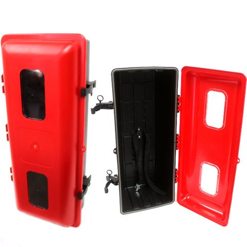 FE CAB POLY RED FRONT LOAD M