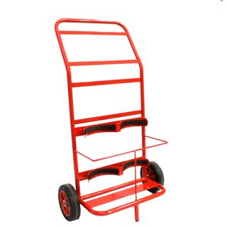 FIRE EXT DOUBLE TROLLEY 2x9KG