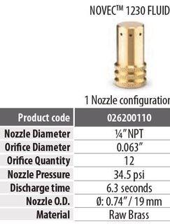 """FDT NOVEC NOZZLE BR1/4"""" L44D22"""