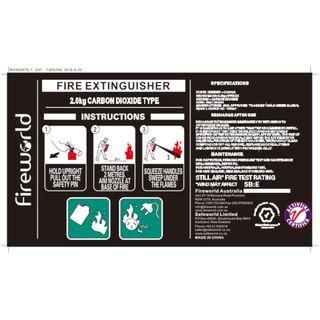 FIRE EXT C02 2KG  LABEL