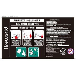 FIRE EXT C02 5KG LABEL