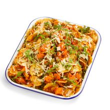 Beef & Vegetable Ravioli w Sweet Potato, Rocket & Parmesan
