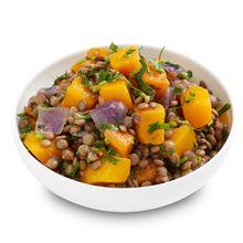 Lentils with Roast Pumpkin