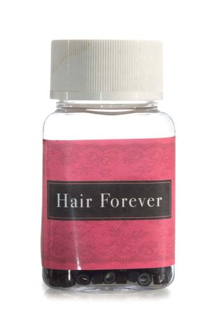 HAIR FOREVER SILICONE BLACK BEADS 500PK