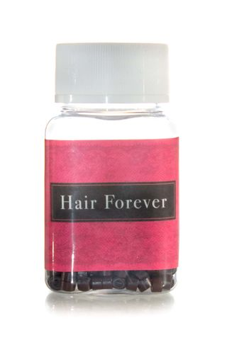 HAIR FOREVER SILICONE DK BROWN BEADS 500