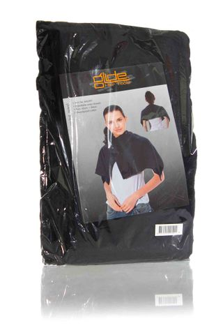 GLIDE BLACK ROUND TOWELS - 6pk