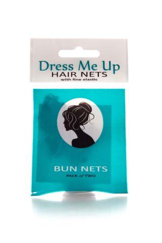 DRESS ME UP BUN HAIR NETS 2PK DARK BROWN
