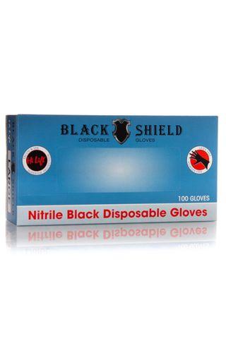 BLACK SHIELD DISP GLOVES 100PK MEDIUM