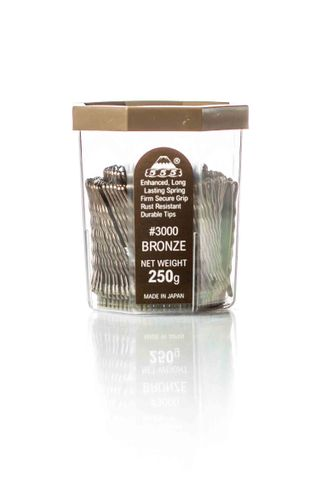 AMW REGULAR BOBBY PINS 2 - 555 - BRONZE