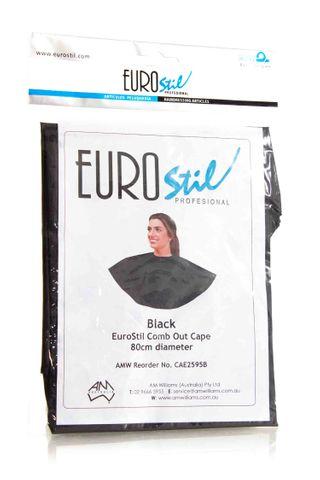 EUROSTIL COMB OUT CAPE BLACK