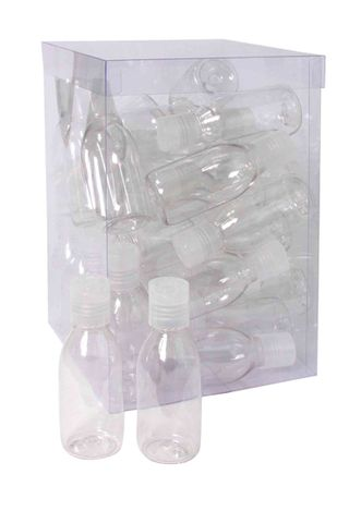 CLEAR FLIP TOP BOTTLE-CLEAR 100ML