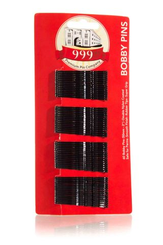999 BOBBY PINS 2 CARD OF 60 BLACK