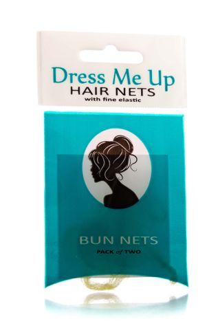 DRESS ME UP BUN HAIR NETS 2PK BLONDE