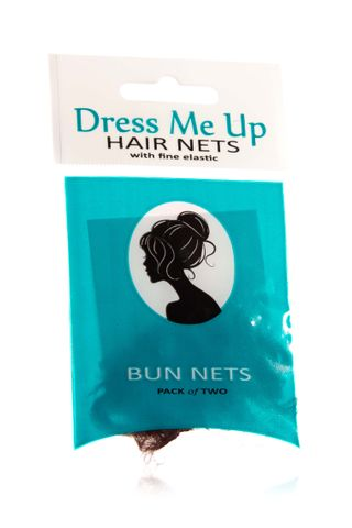 DRESS ME UP BUN HAIR NETS 2PK MED BROWN