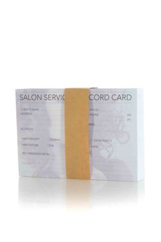 DTL HAIRDRESSING RECORD CARD