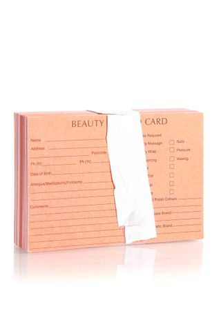 DTL BEAUTY THERAPY RECORD CARDS