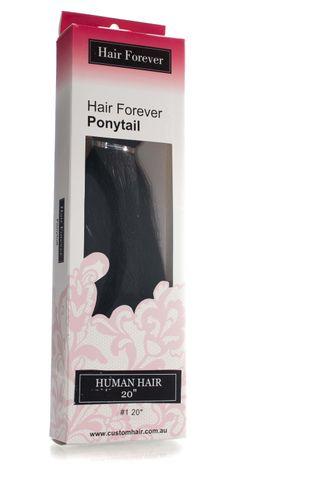 HAIR FOREVER HUMAN HAIR PONY TAIL #1