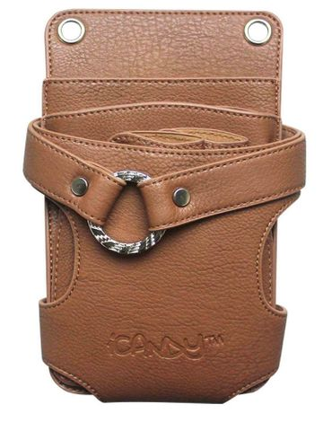 iCANDY BROWN 6 PCS POUCH WITH RING