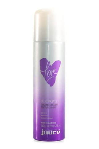 JUUCE DUSTING COL TEXT SPRAY LILAC