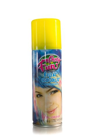 PARTY FUN COLOURED SPRAY YELLOW
