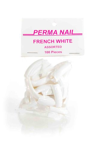 PERMA NAIL FORM TIPS 100 ASST FRENCH*