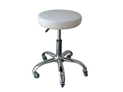 Koza Cutting Stool White Adjustable Gas Lift - Oz Stock