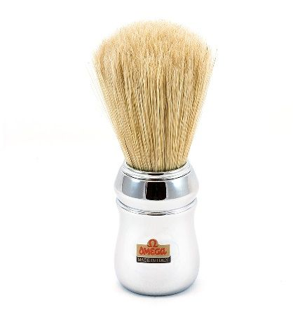 Omega 48 Chrome Shaving Brush