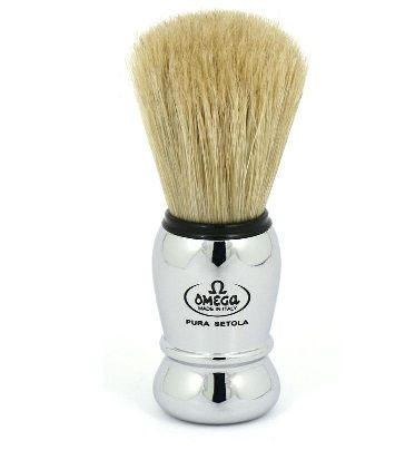 Omega Silver Shaving Brush #10029