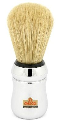 Omega Silver Long Bristle S/Brush #10083