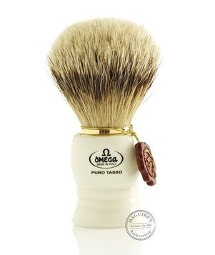 Omega White Badger Shaving Brush #641