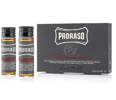 Proraso Beard Hot Oil 4 x 17ml